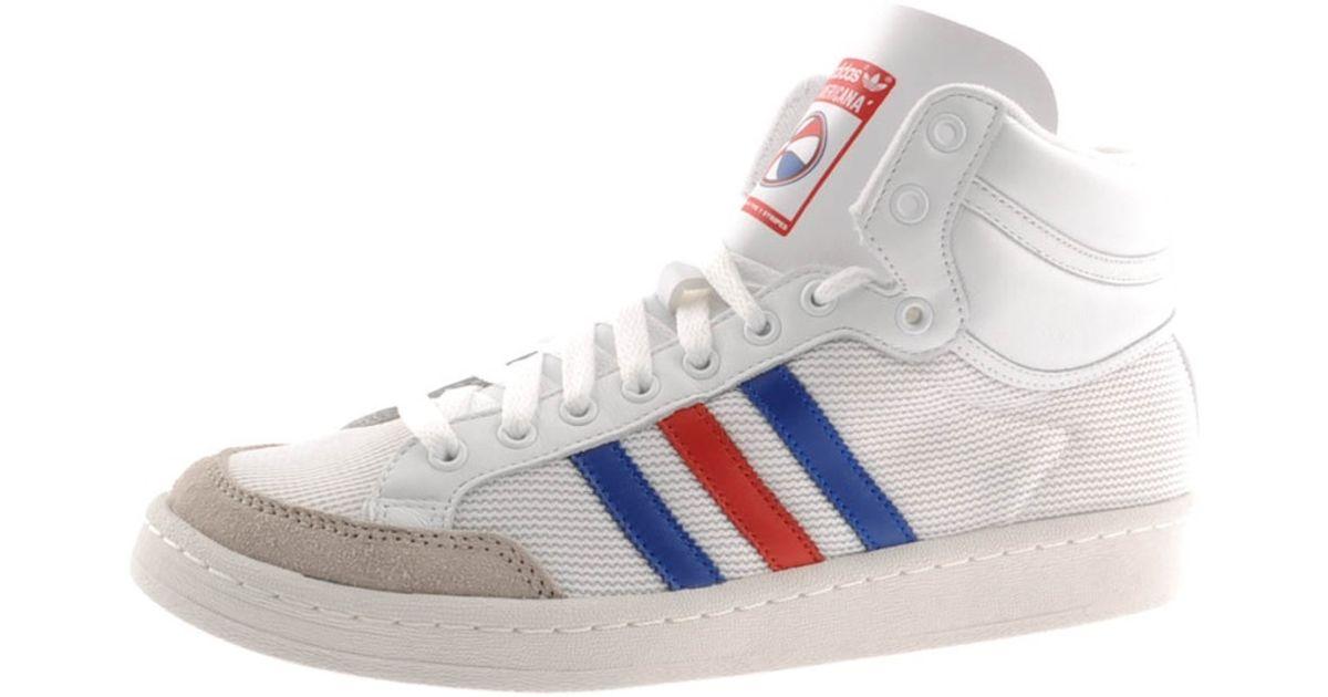 best cheap 916ca b3d81 adidas Originals Americana Hi 88 Trainers in White for Men - Lyst