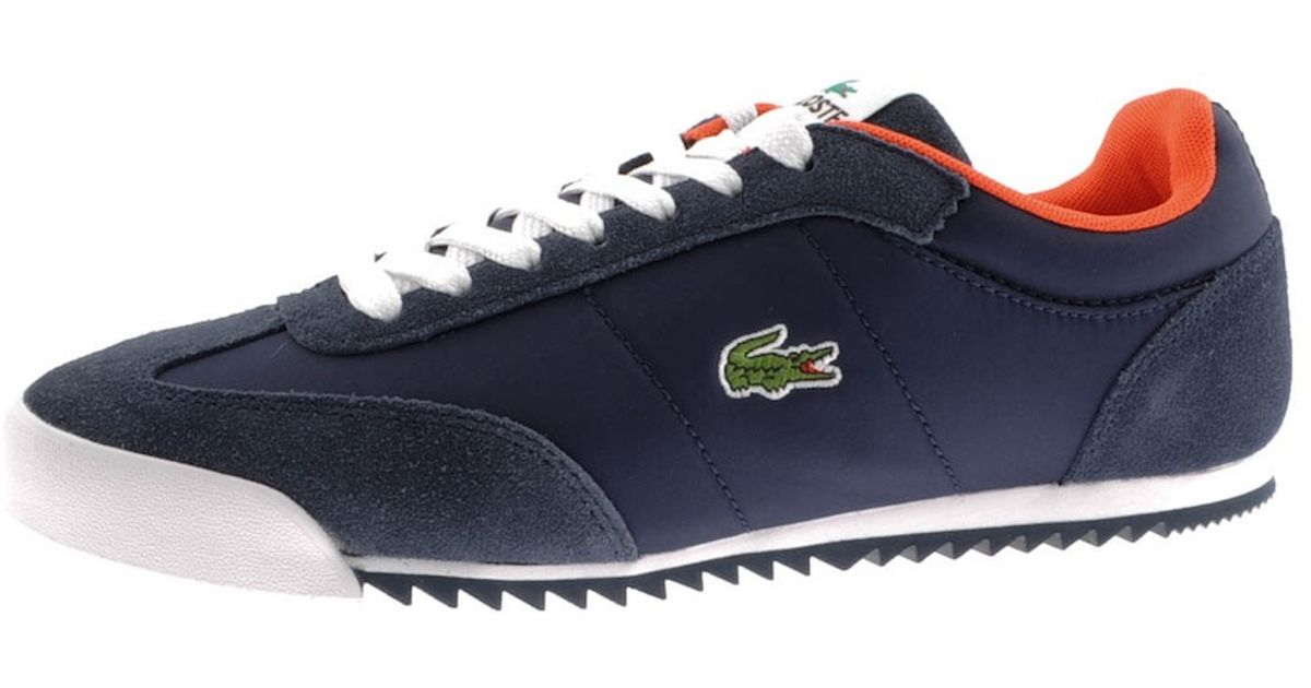0b04b98bc6431 Lacoste Romeau Trainers in Blue for Men - Lyst