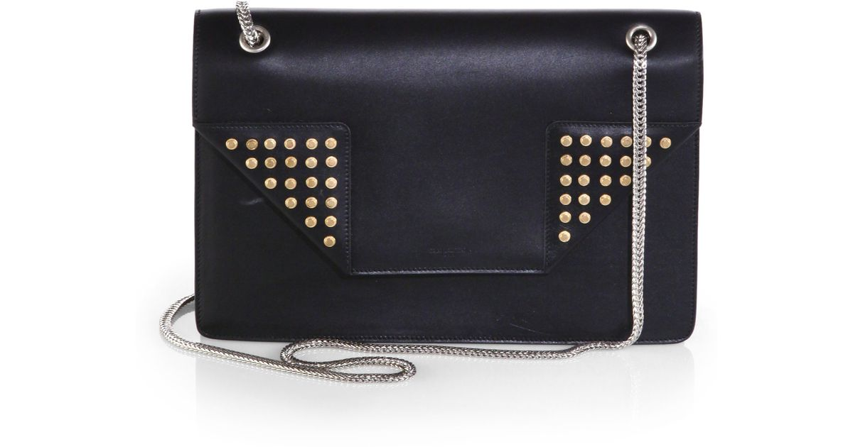 yves st laurent handbags - yves saint laurent classic monogram studded leather shoulder bag ...