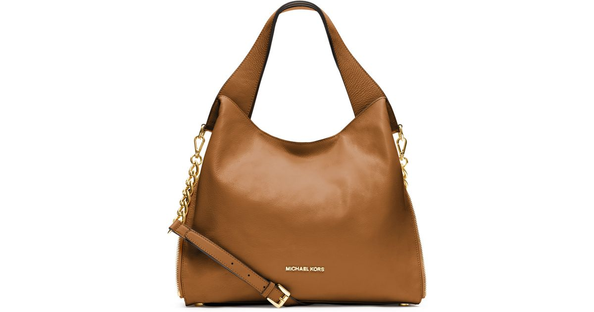 99f0281fd651 MICHAEL Michael Kors Large Devon Shoulder Tote in Brown - Lyst