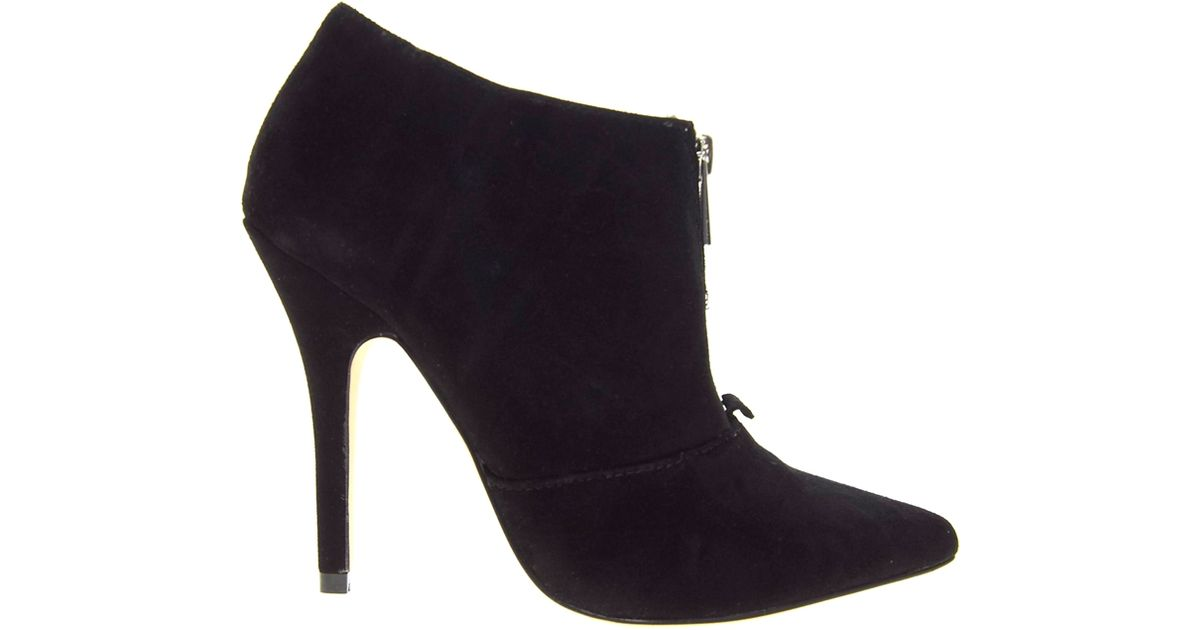 221dffc9a4 ALDO Sherly Black Pointed Heeled Ankle Boots in Black - Lyst