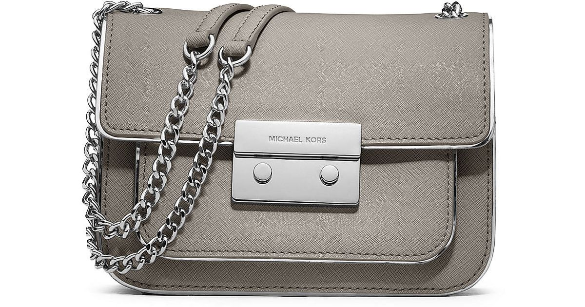 7459f4e6238 Michael Michael Kors Sloan Specchio Leather Small Shoulder Bag in Brown -  Lyst