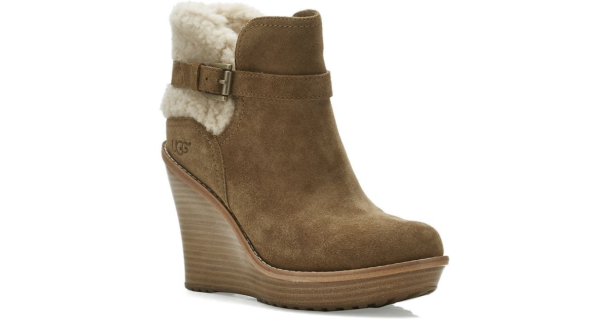 ugg anais wedge boot in lyst