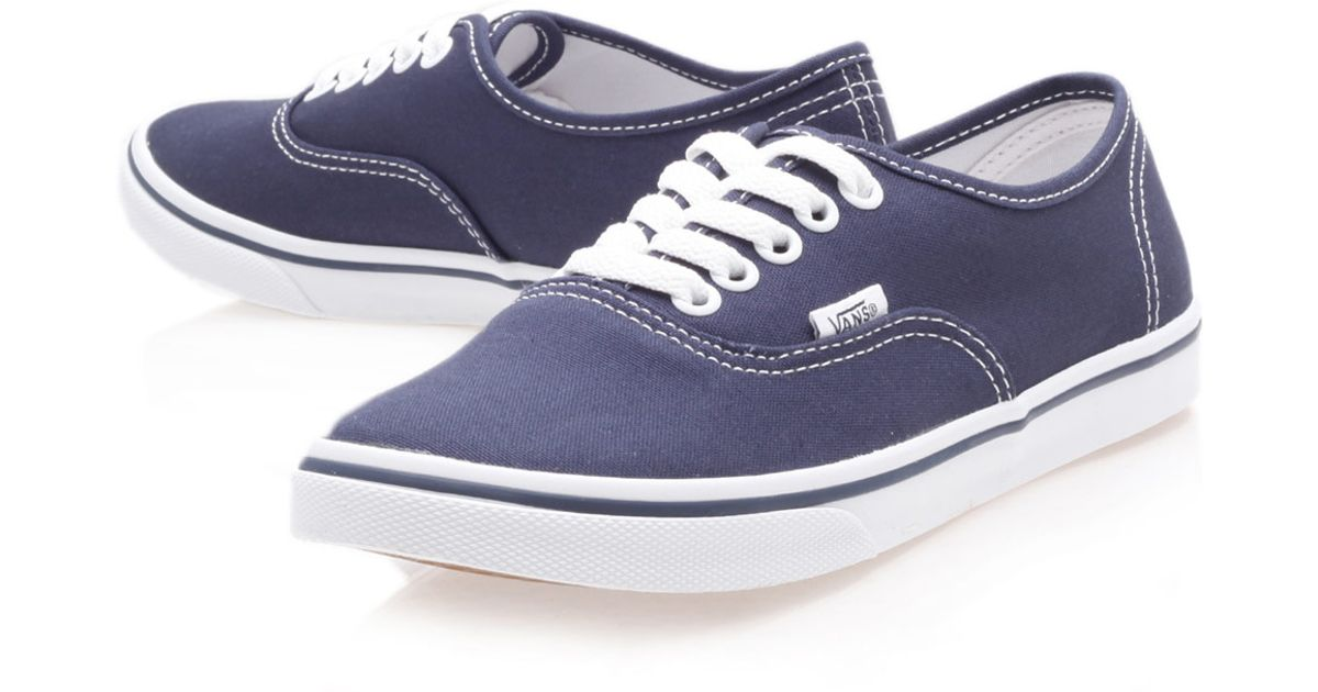 Lyst - Vans Navy Authentic Lo Pro Trainers in Blue for Men ffec37805f39
