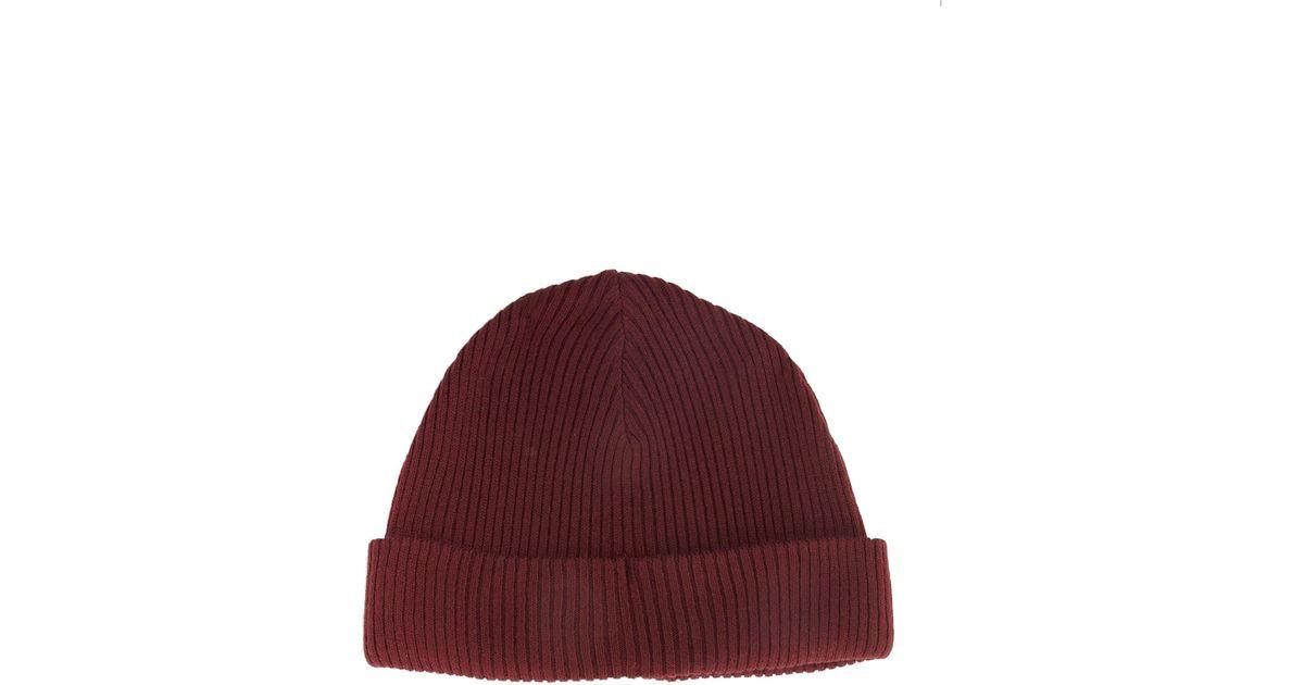 ea0e8e5c68bcd ASOS Fisherman Beanie Hat in Red for Men - Lyst