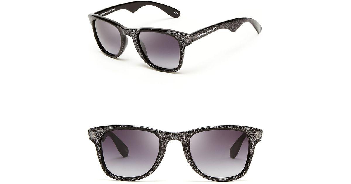 0744d51cf79 Lyst - Jimmy Choo Carrera By Glitter Wayfarer Sunglasses in Gray