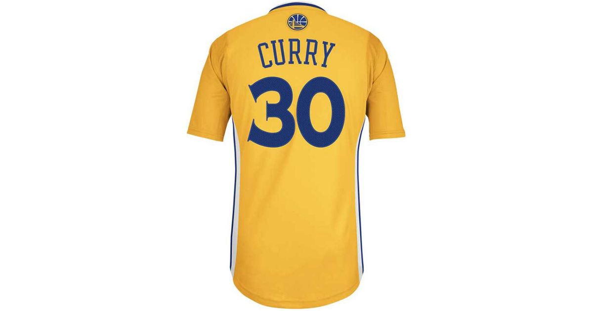 9403a830520a ... low price designer fashion 7e8af 76ba9 lyst adidas mens shortsleeve stephen  curry golden state warriors swingman