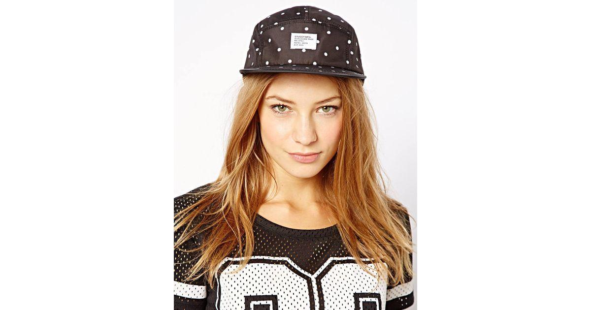 0999e3f211e Lyst - Stussy Polka Dot Snapback Cap in Black