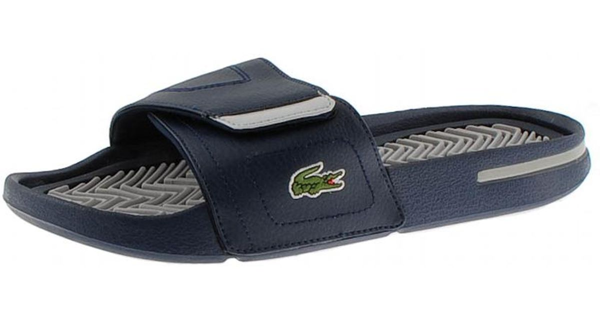7546c697a8f5 Lacoste Molitor Cre Spm Flip Flops Dark Blue in Gray for Men - Lyst