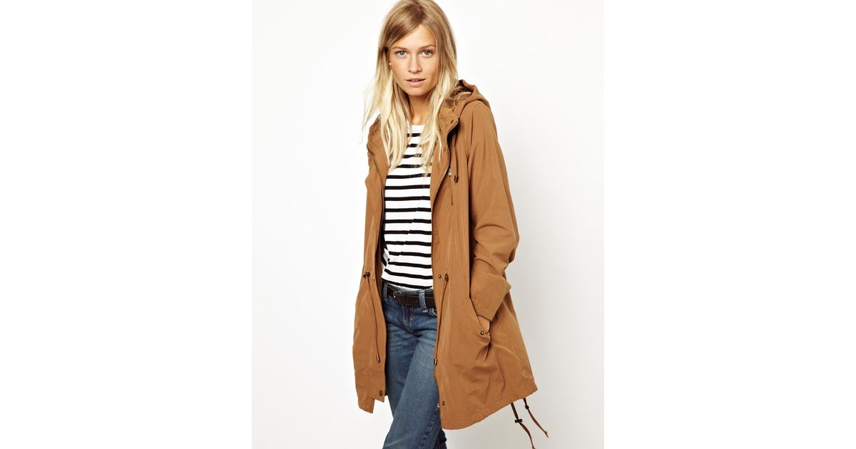149bef66e287 ASOS Oasis Light Weight Parka in Brown - Lyst