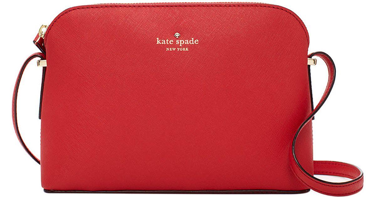 b66f07f0a Kate Spade Cedar Street Mandy Saffiano Leather Crossbody Bag in Red - Lyst