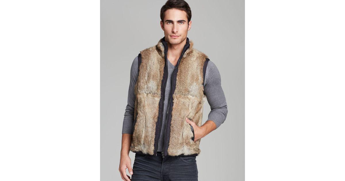 cbbe773b77407 Lyst - Michael Kors Reversible Fur Vest in Black for Men