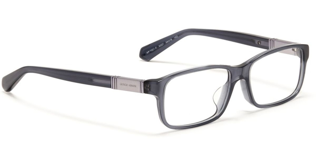 Lyst - Giorgio Armani Plastic Frame Glasses in Blue for Men