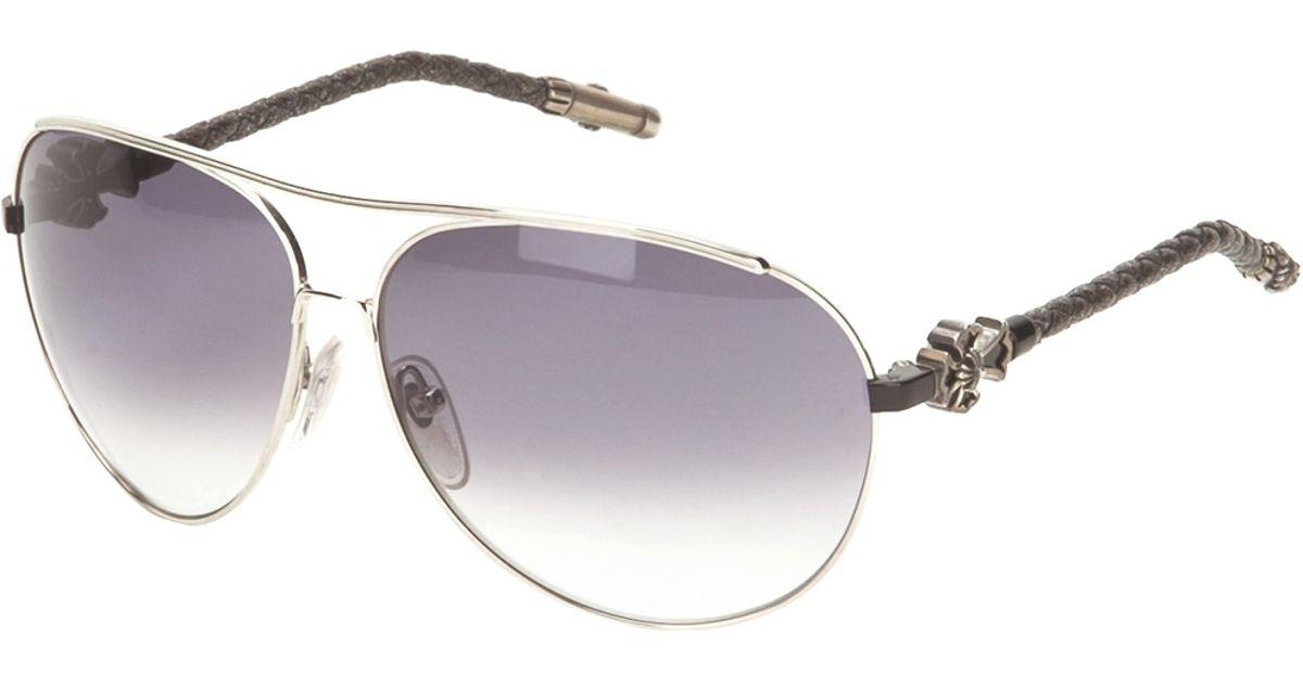 ec60119d7b75 Lyst - Chrome Hearts Aviator Sunglasses in Black for Men