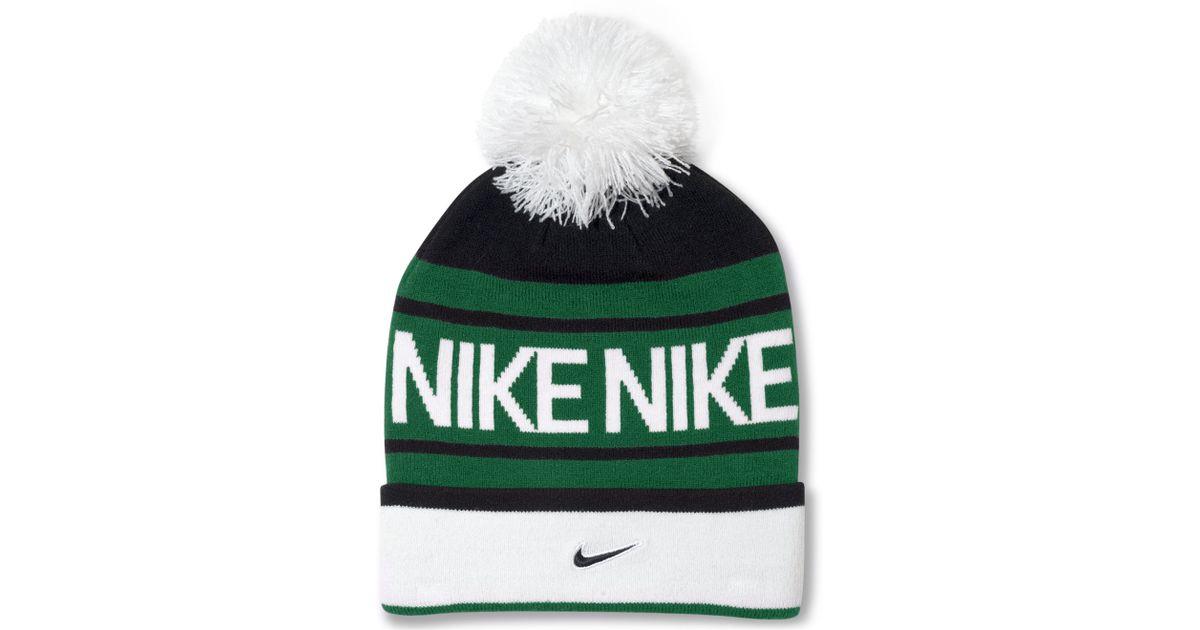 Lyst - Nike Pom Pom Beanie in Green for Men abbd7db08a1