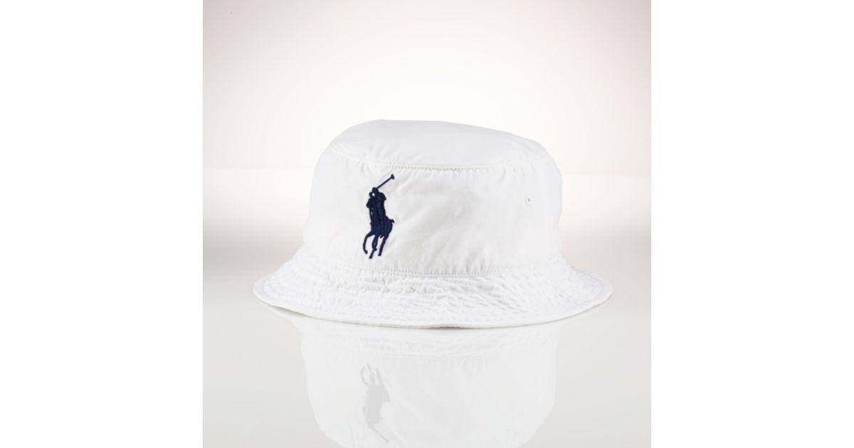 dfa36e095f5 Lyst - Polo Ralph Lauren Beachside Bucket Hat in White for Men