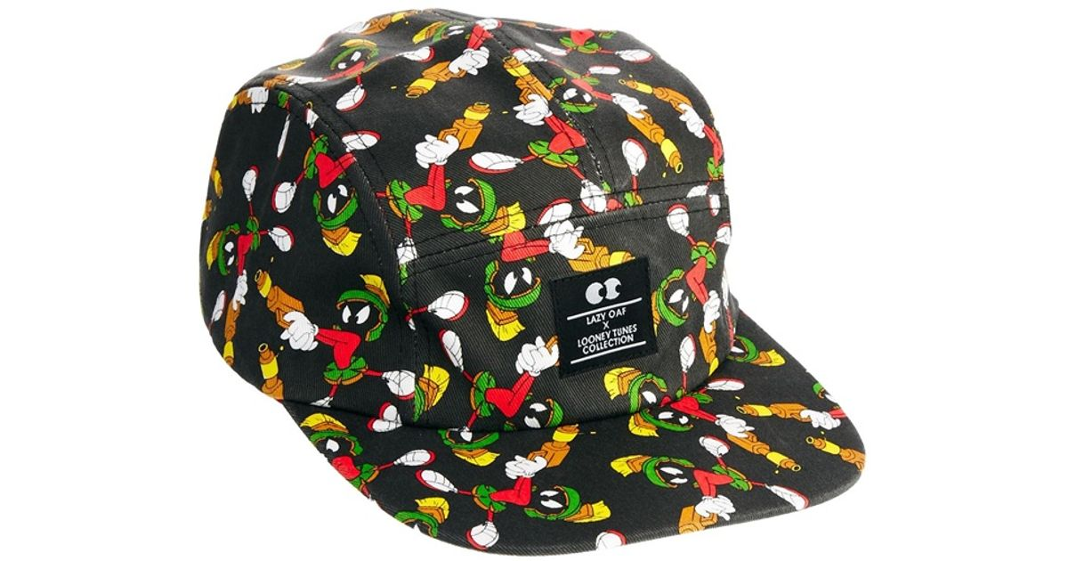 Lyst - Lazy Oaf Looney Tunes Stick Em Up Martian Cap in Black b89636ff0d2