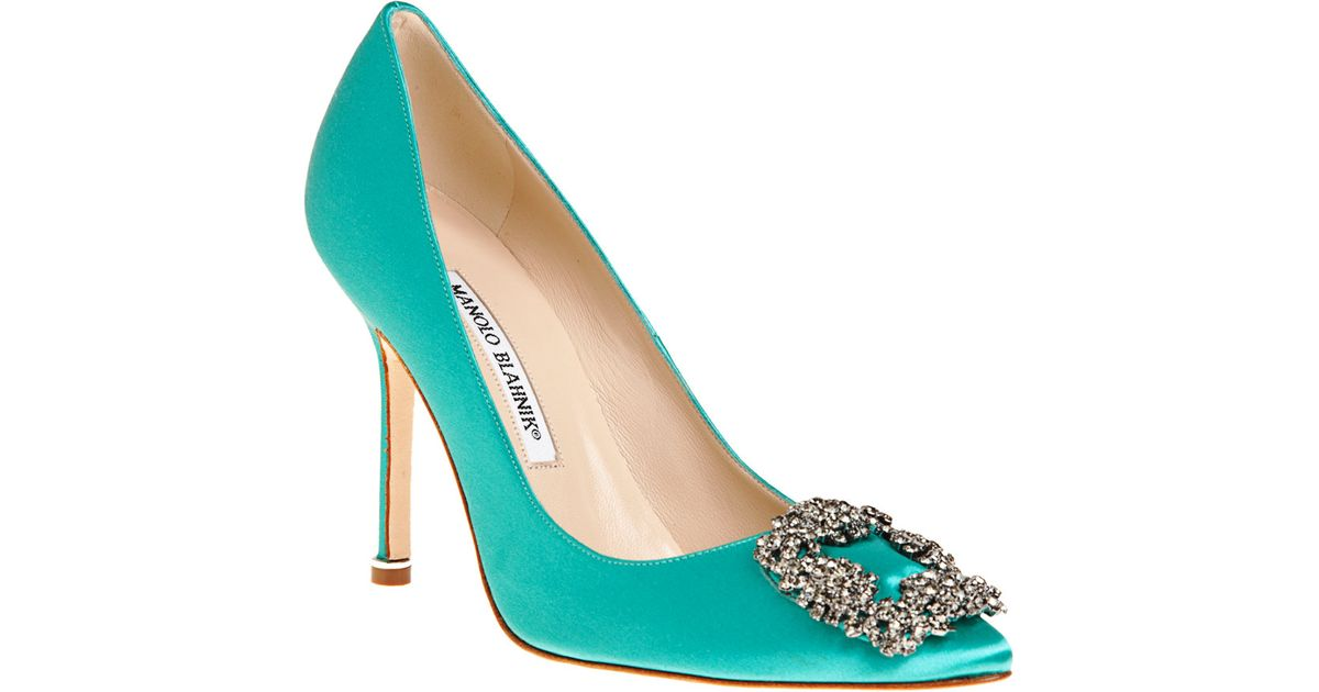 1f4e8be18c2 Lyst - Manolo Blahnik Hangisi in Green
