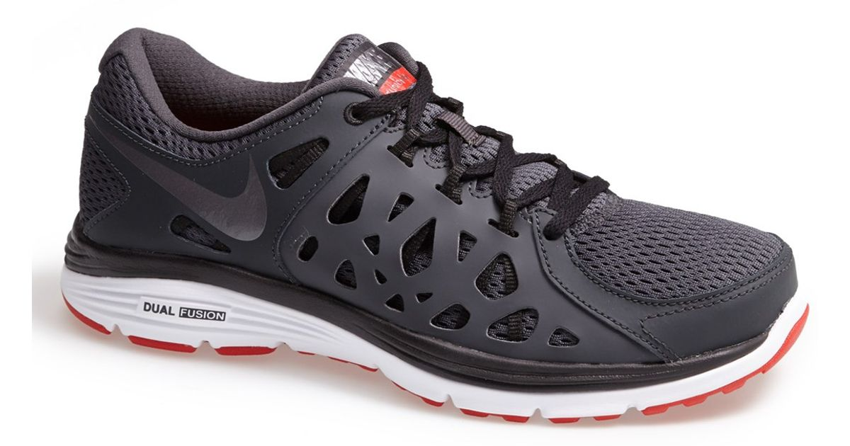 newest 1e4d3 31819 Nike Dual Fusion Run 2 Running Shoe in Gray for Men   Lyst