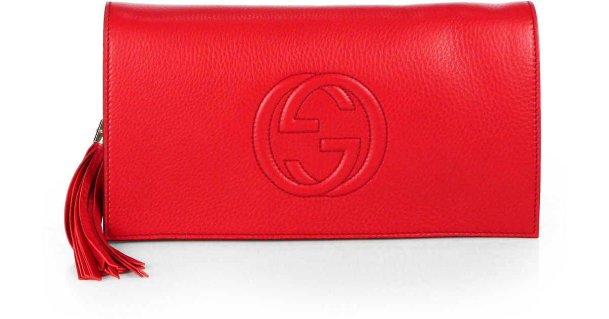 eb2fd01c3c1 Gucci Soho Clutch in Red - Lyst
