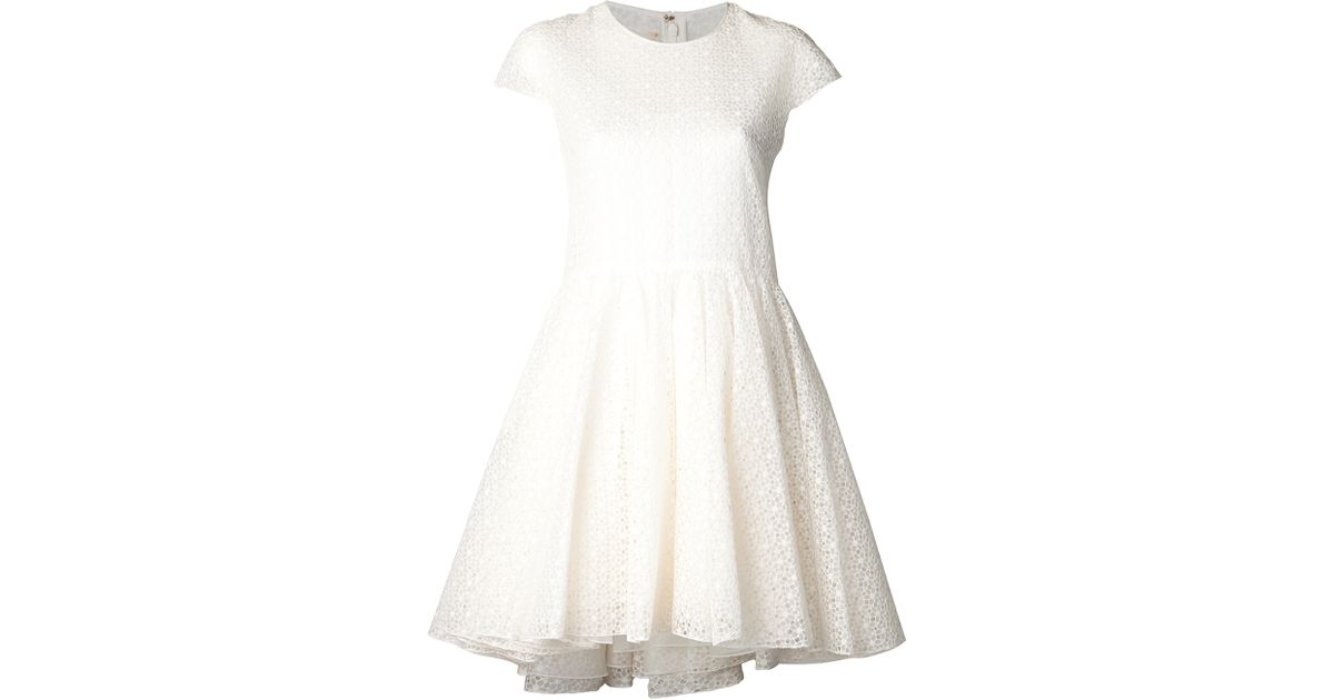 Lyst giambattista valli flower lace dress in white mightylinksfo