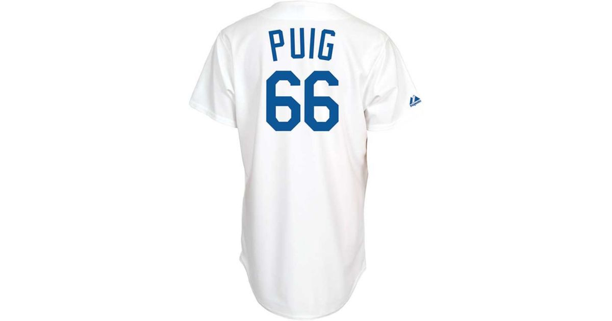 Lyst - Majestic Kids Los Angeles Dodgers Player Replica Yasiel Puig Jersey  in White for Men aaeefffe6