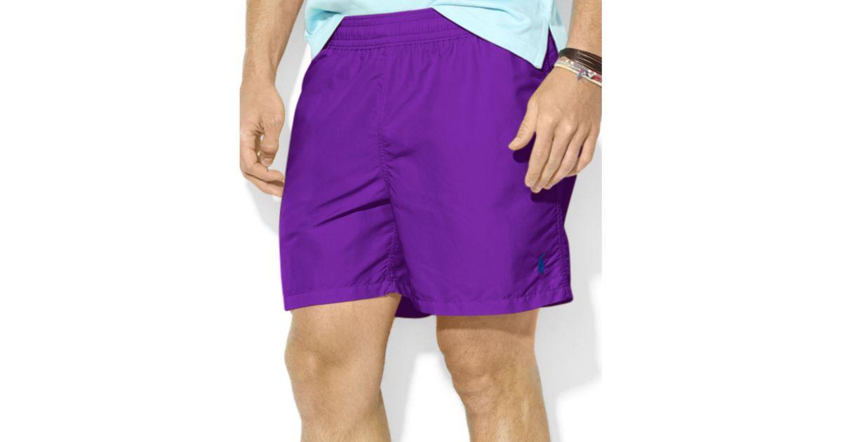 d597b749a ... norway lyst ralph lauren polo hawaiian solid swim shorts in purple for  men 7d963 79aab