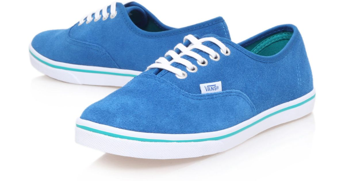 best cheap 79ed3 9cde2 Vans Blue Suede Authentic Lo Pro Trainers in Blue for Men - Lyst