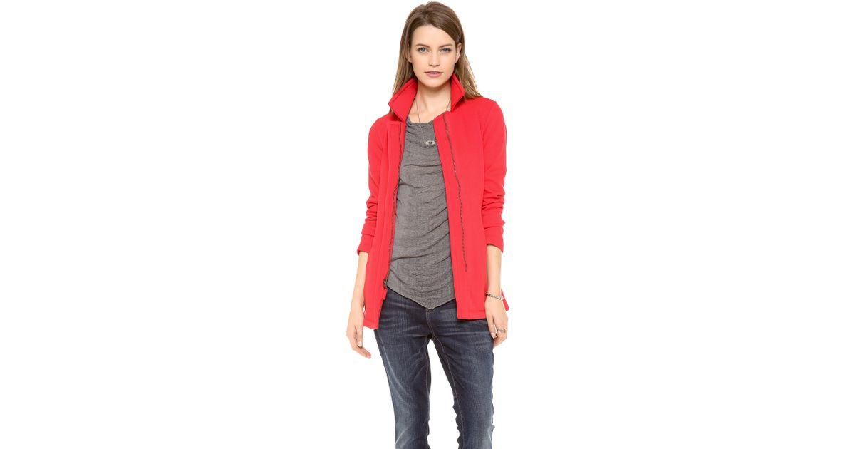 Splendid Seneca Fleece Car Coat in Red | Lyst