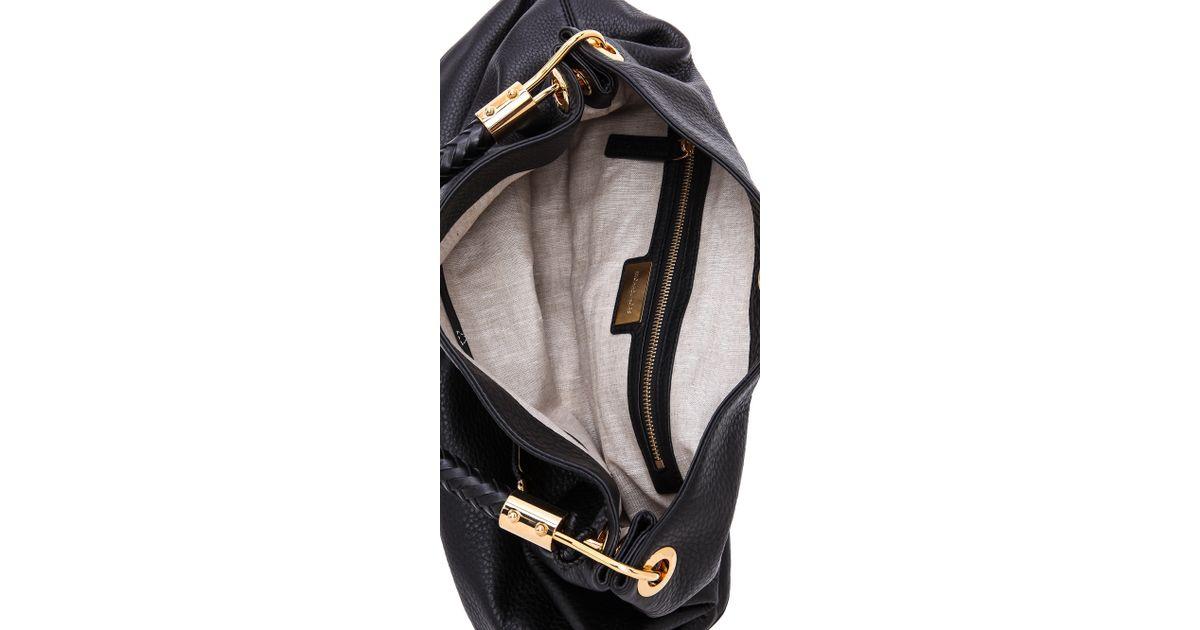 b03b67a81e77 Lyst - Michael Kors Skorpios Large Shoulder Bag in Black