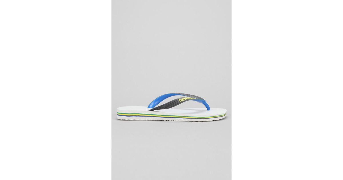 66a3176faa2cd Lyst - Havaianas Brasil Mix Thong Sandal in Blue