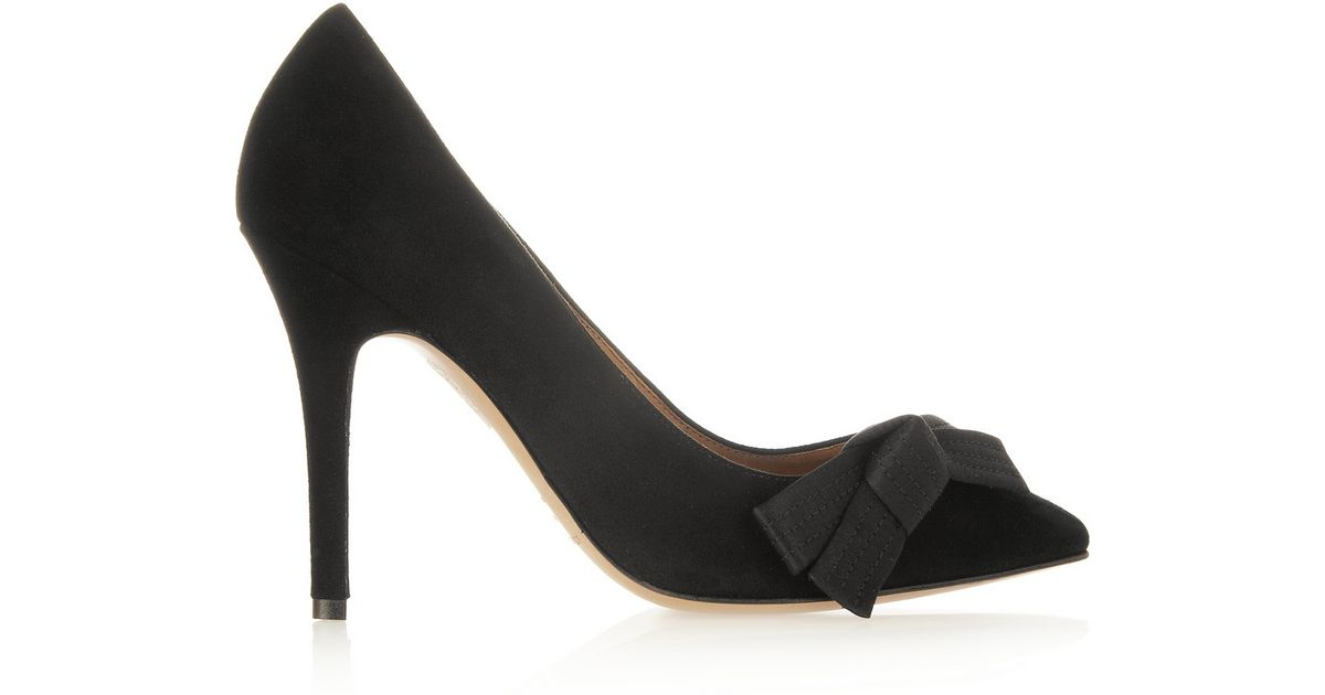 70e972a27c5 Lyst - Isabel Marant Poppy Bow Detailed Suede Pumps in Black