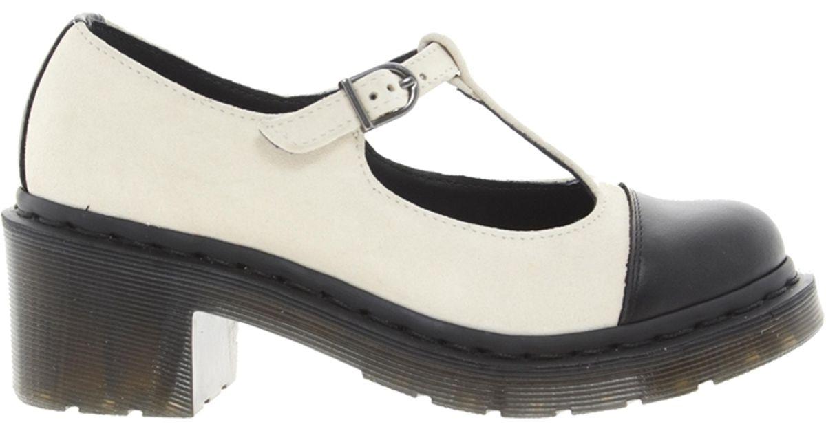 6cb85c7d0456 Lyst - Dr. Martens Agyness Deyn Porcelian T Bar Shoes in Black