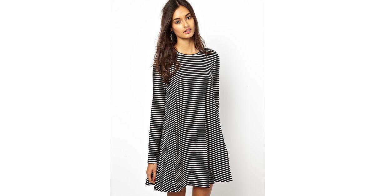 Black and cream striped maxi dress