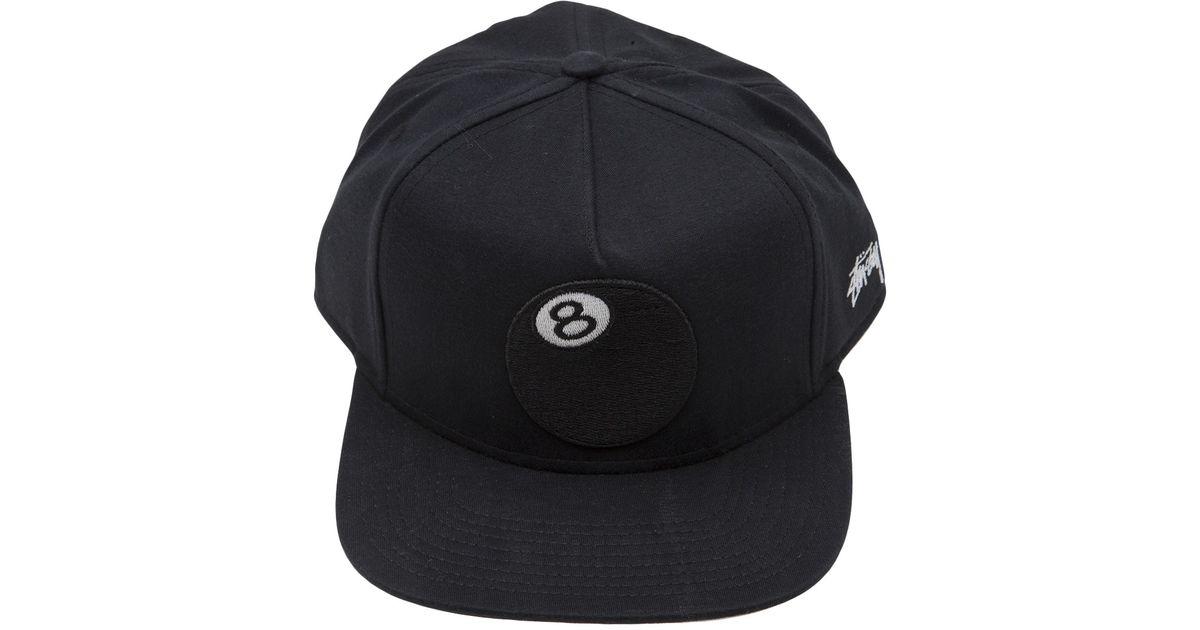 ffd72de06ec Lyst - Stussy 8ball Jersey Snapback in Black for Men