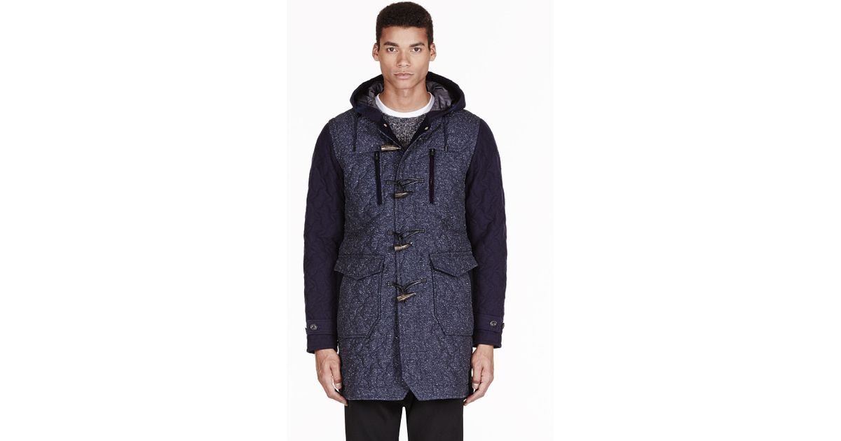 White mountaineering Navy and Charcoal Quilted Windstopper Jazz ...