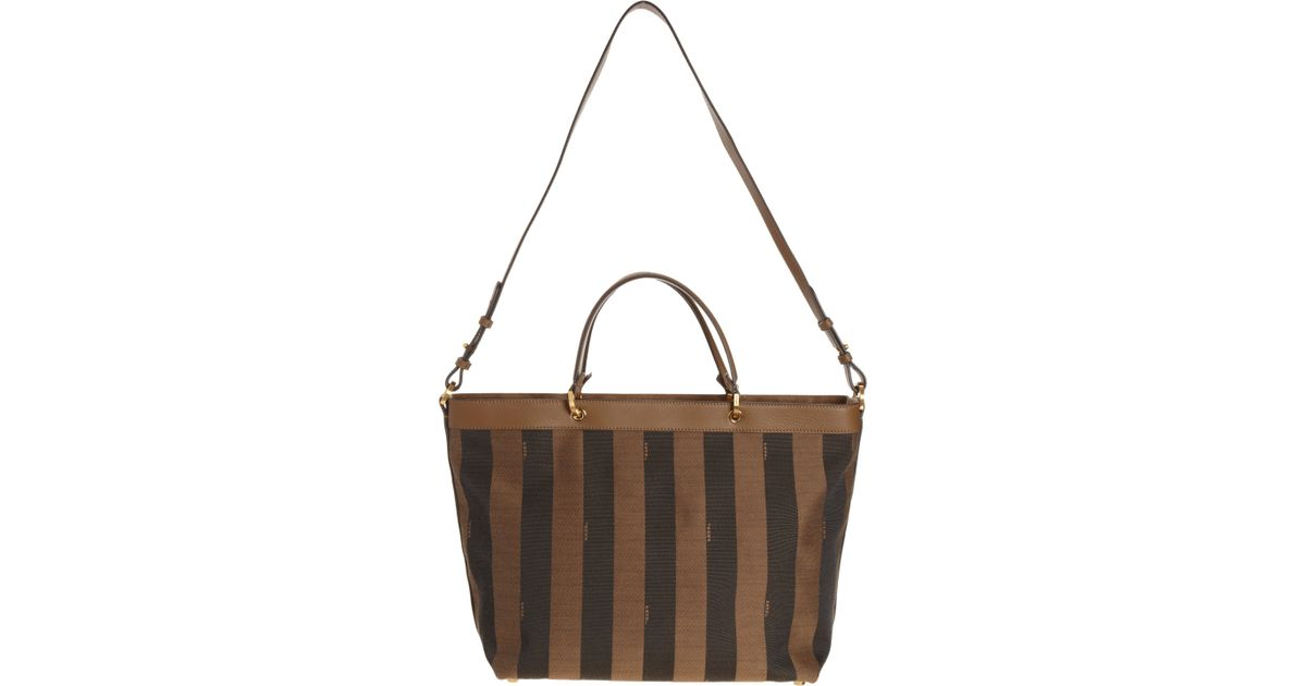 4cabed4accfd ... release date fendi pequin tote bag in brown lyst 50772 320ac ...