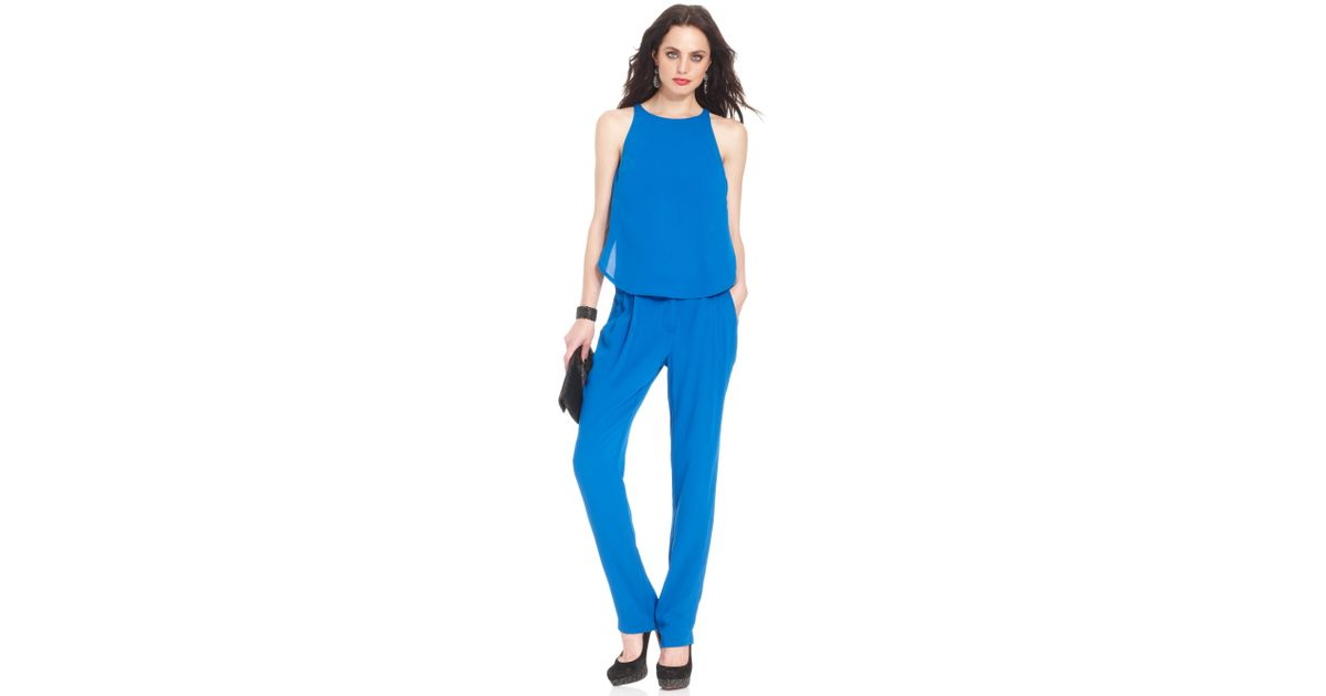 d12fa80f5 Lyst - Marciano Ana Jumpsuit in Blue