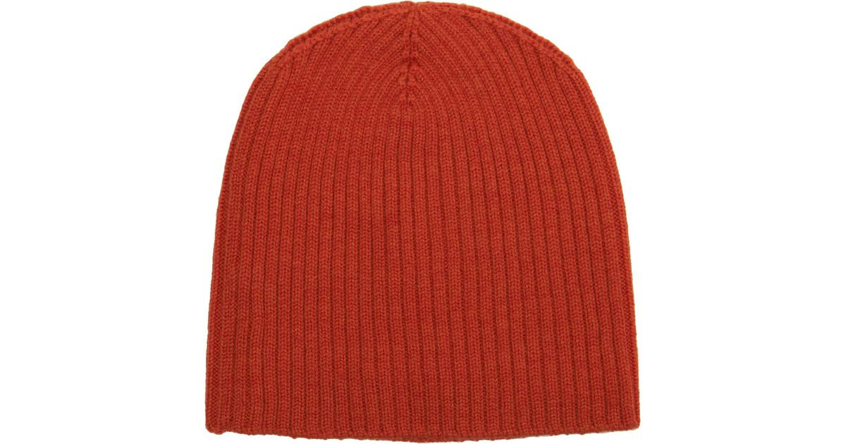 bb93332be1d Lyst - Barneys New York Fisherman Beanie in Orange