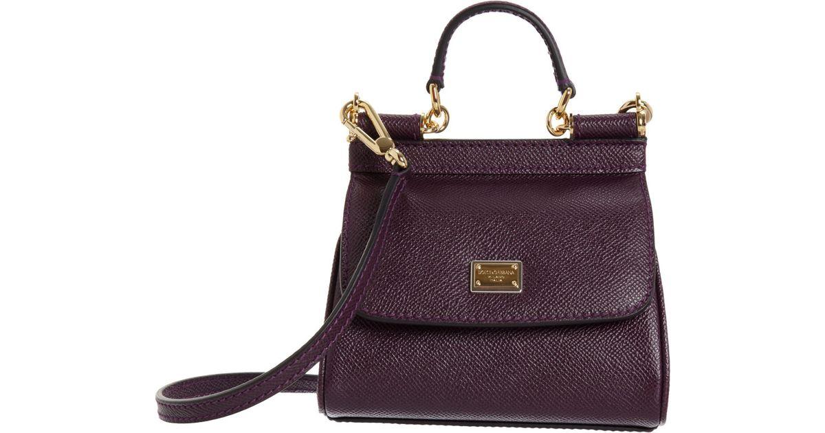 76147cd1c98f3 Dolce   Gabbana Micro Miss Sicily Bag in Purple - Lyst