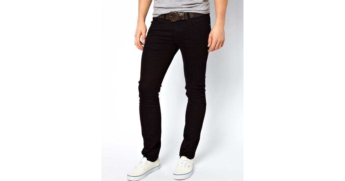 e17ffdc8 Lee Jeans Jeans Luke Skinny Clean Black in Black for Men - Lyst