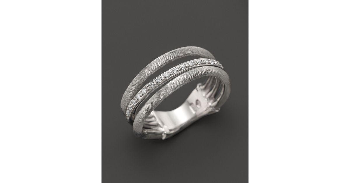 Lyst Marco Bicego Diamond Jaipur Link 3 Row Ring In 18k