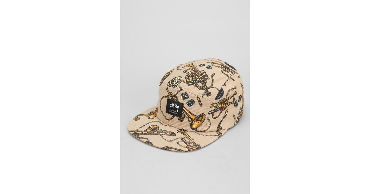 ed8755473d1 Urban Outfitters Stussy Brass Camp Hat in Natural for Men - Lyst
