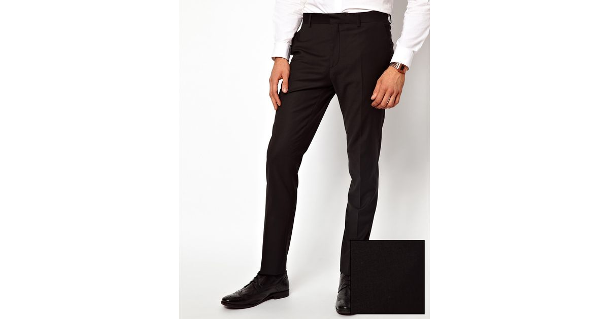 Asos River Island Skinny Fit Suit Pants in Black in Black for Men ...