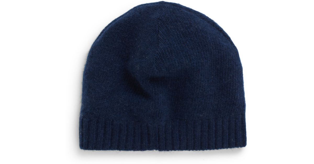 Lyst - Portolano Cashmere Knit Beanie in Blue for Men ac528d4c4aad