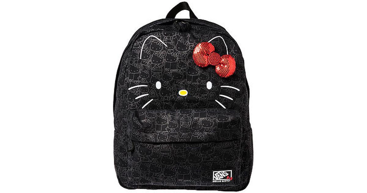 ab5e4e981c2c Lyst - Vans The X Hello Kitty Blueprint Backpack in Black