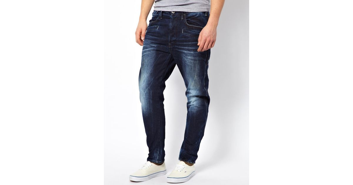 5cb4efea913 G-Star RAW G Star Jeans Davin 3d Loose Tapered Medium Aged in Blue for Men  - Lyst