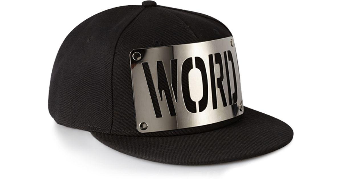6cab6b2bebc54 ... best lyst forever 21 swag snapback hat in black for men d1b43 02aec
