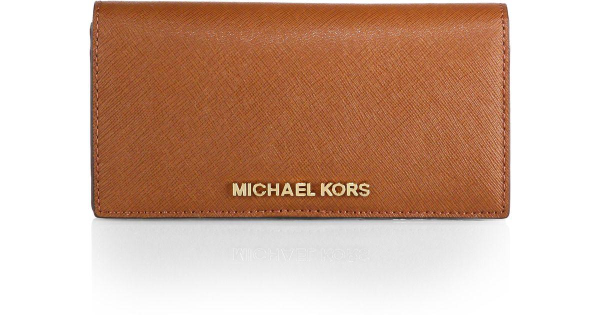 50ec1a7d907c MICHAEL Michael Kors Jet Set Large Bifold Wallet in Brown - Lyst