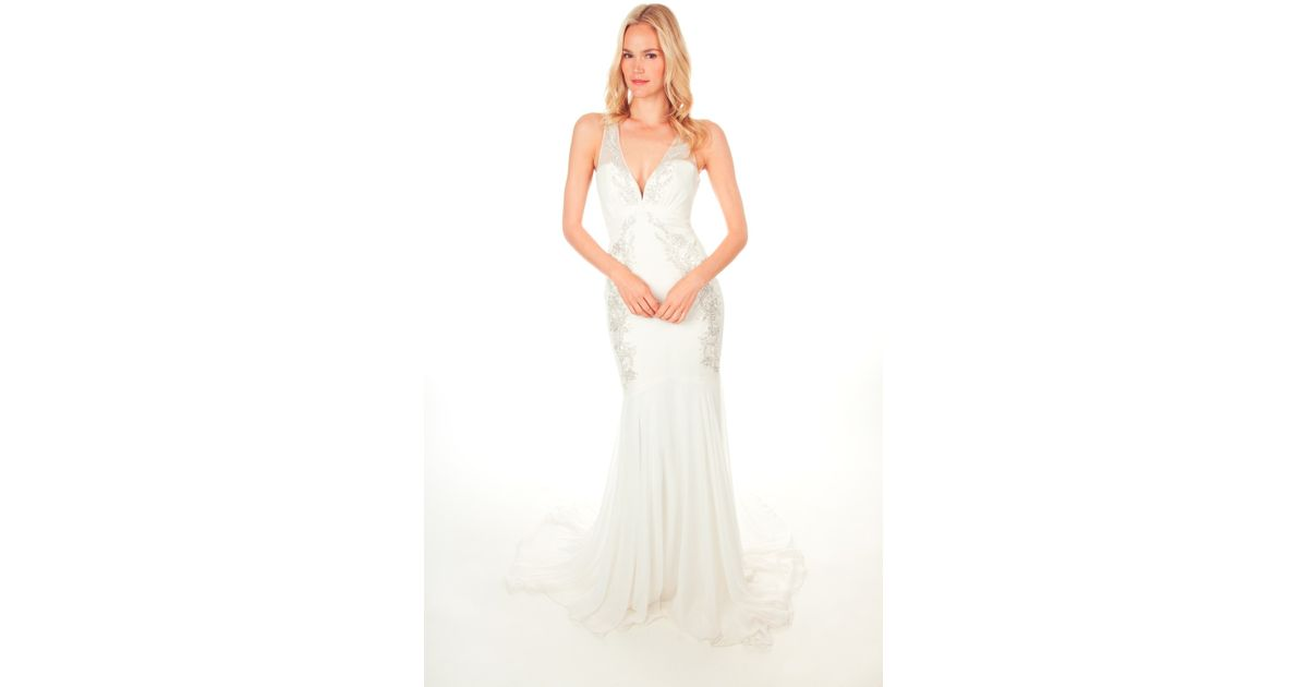 Nicole Miller Hilary Bridal Gown In White